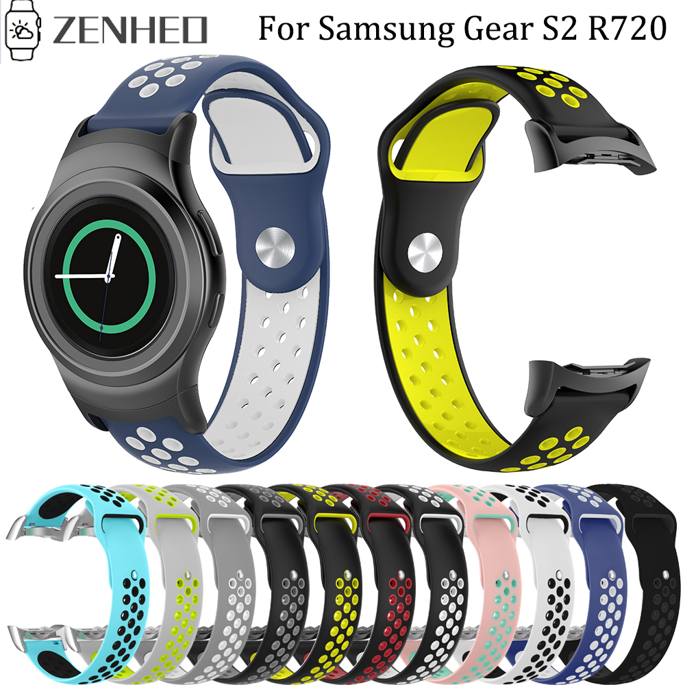 Sport Silicone Watchband For Samsung Galaxy Gear S2 R720 R730 Replacement Bracelet Strap For SM-R720 Smart Watch Band