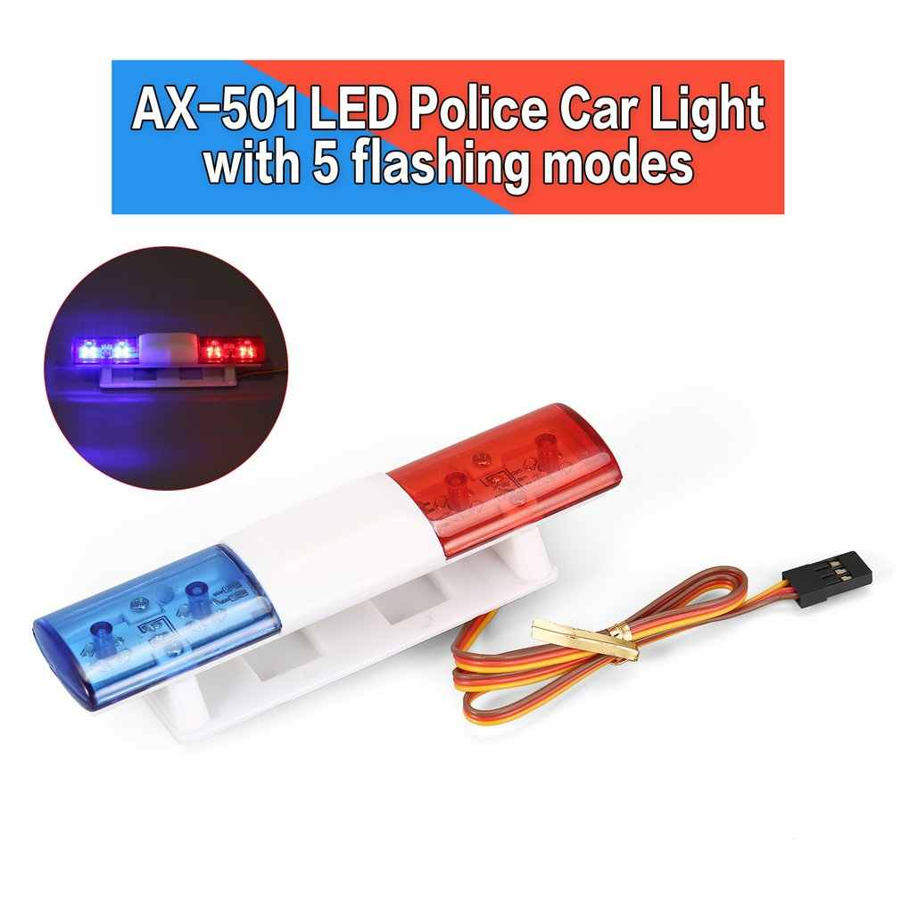 Hot RC Auto Accessoires Led Politie Flitslicht Alarmerende Light Lamp voor 1/10 1/8 HSP Traxxas TAMIYA CC01 Axiale SCX10 d90 Model Auto