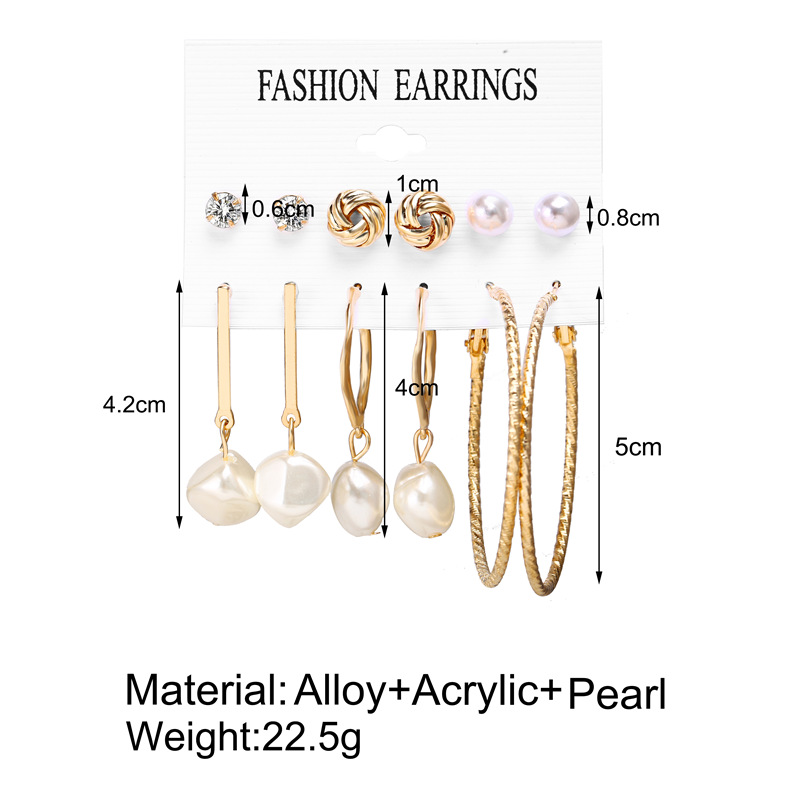 H1a2b8c859c6140d6a18b51a55551faa2e - IF ME Fashion Vintage Gold Pearl Round Circle Drop Earrings Set For Women Girl Large Acrylic Tortoise shell Dangle Ear Jewelry