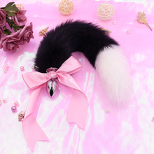 Black Cute ears Headbands with Fox / Rabbit Tail  Metal Butt Anal Plug Erotic Cosplay Accessories Adult Sex Toys for Couples