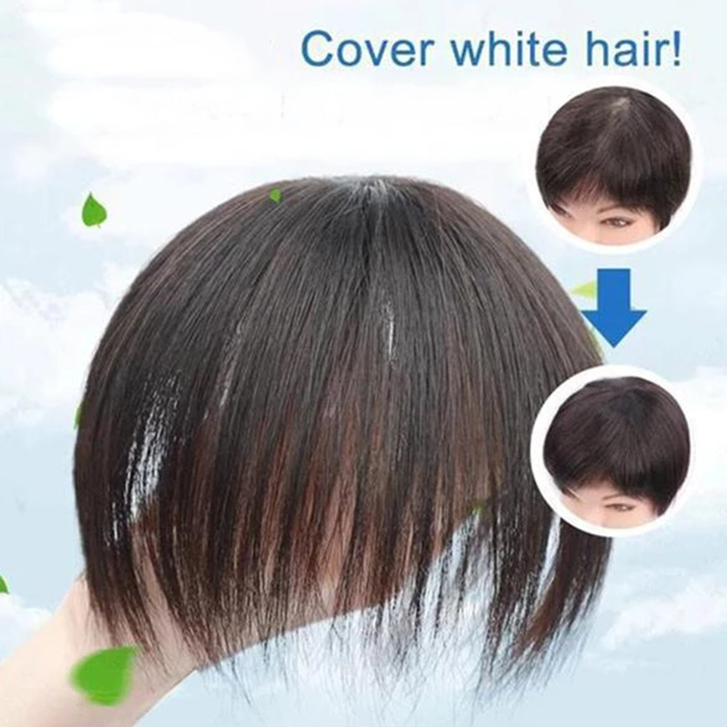 Clip-On Hair Topper Wig Human Hair Hairpiece Hair Extension Wig For Women