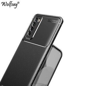 For Huawei Nova 7 Case Bumper Silicone Carbon Fiber Shockproof Cover For Huawei Nova 7 5G Case For Huawei Nova 7 Nova7 5G 6.53