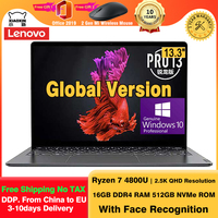 Lenovo-laptop xiaoxin pro 13, laptop amd ryzen 7 4800u, windows 10, ultrabook, 16gb ram, 512gb ssd, 13.3 segundos