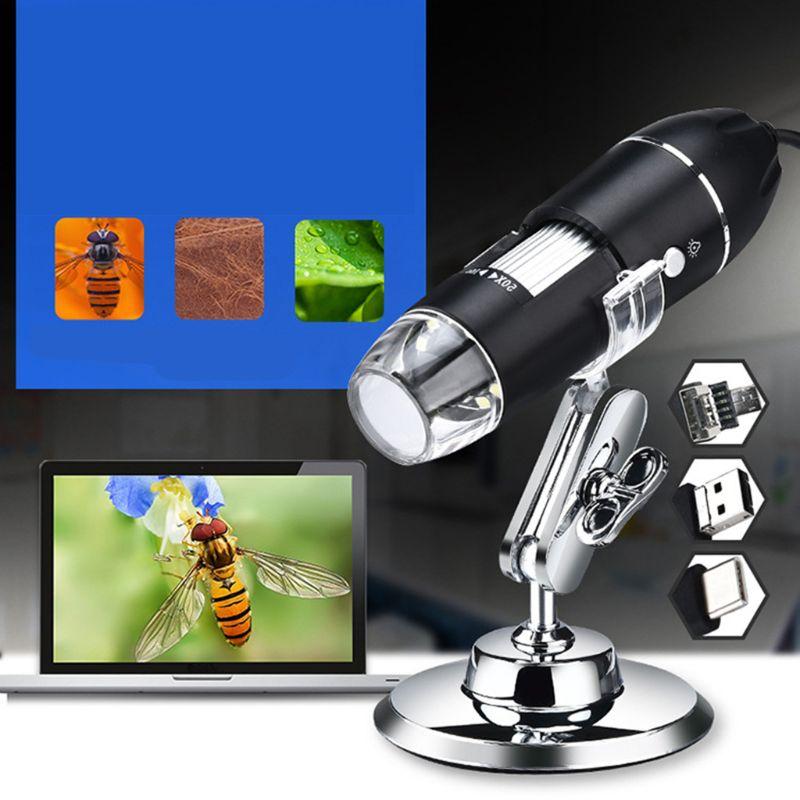 Купить с кэшбэком 0-1000X Digital 3in1 USB Microscope for Phone PC Windows OSX Camera Magnifier