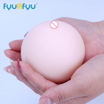 Men Sex Toy Portable Soft Breast 3D Female Mold Rubber Massager True Nipple Touch Male Masturbation Toys
