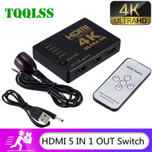 4K 2K 5x1 HDMI Cable Splitter HD 1080P Video Switcher Adapter 5 Input 1 Output Port HDMI Hub for Xbox PS4 DVD HDTV PC Laptop TV