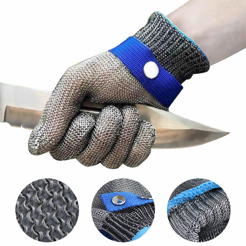New 1 Pcs Cut Resistant Stainless Steel Gloves Working Safety Gloves Metal Mesh Anti Cutting For Butcher Worker