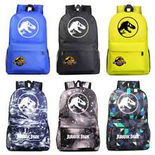 Fashion Adventure Dinosaur Jurassic Park World Boy Girl Book School bag Women Bagpack Teenagers Schoolbags Men Student Backpack