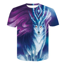 2019 T-Shirt da uomo a maniche corte T-Shirt goth rock scuro vestiti T-Shirt animal 3d T-Shirt animale top(China)