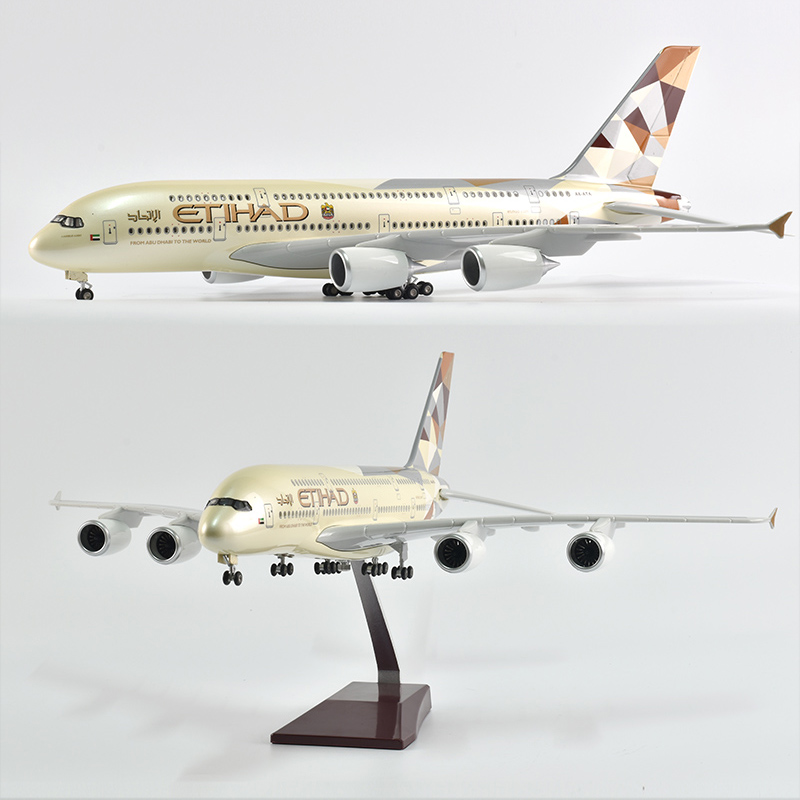 Модель самолета JASON TUTU 46 см Etihad Air bus 380, модель самолета, модель самолета в масштабе 1/160, Литые полимерные самолеты, Боинг b787