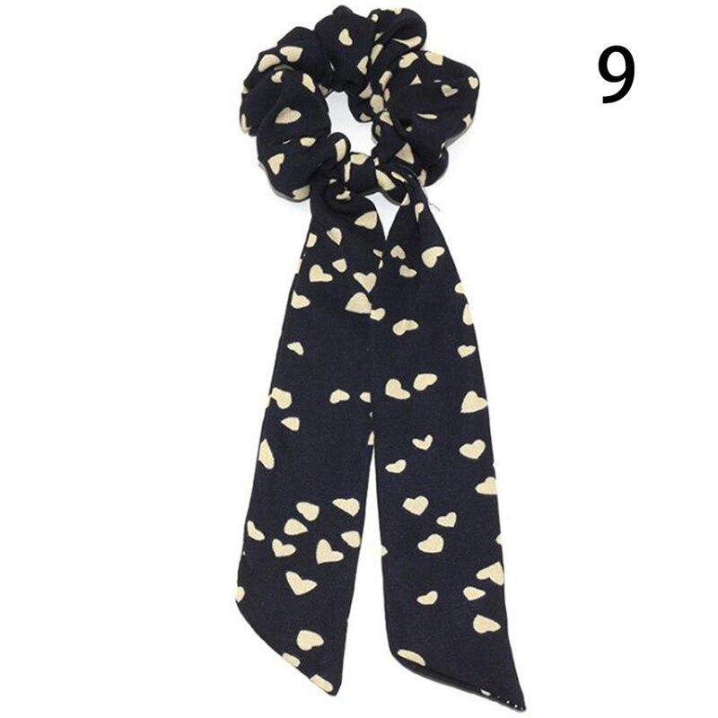 Femmes banderoles chouchous à pois imprimé Floral élastique noeud cheveux corde fille cheveux cravates coréen doux cheveux accessoires chapeaux 47
