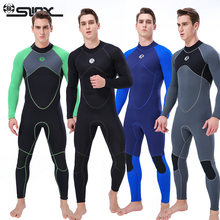 3mm Neoprene Wetsuits Men Full Body One-Piece Scuba Diving Surfing Snorkeling Spearfishing Swimsuit Sunscreen Keep Warm(China)