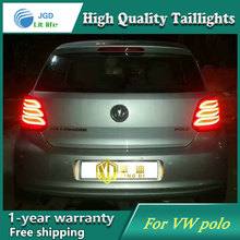 цена на Car Styling Tail Lamp for VW Volkswagen Polo 2011-2016 Tail Lights LED Tail Light Rear Lamp LED DRL+Brake+Park+Signal Stop Lamp