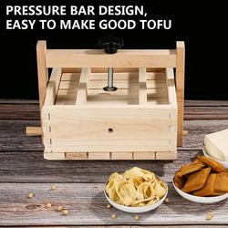 2-in-1 Manual Tofu Cheese Maker Press With 3 Pcs Cloth Natural Wooden Durable Easy To Assemble For Home Tofu DIY