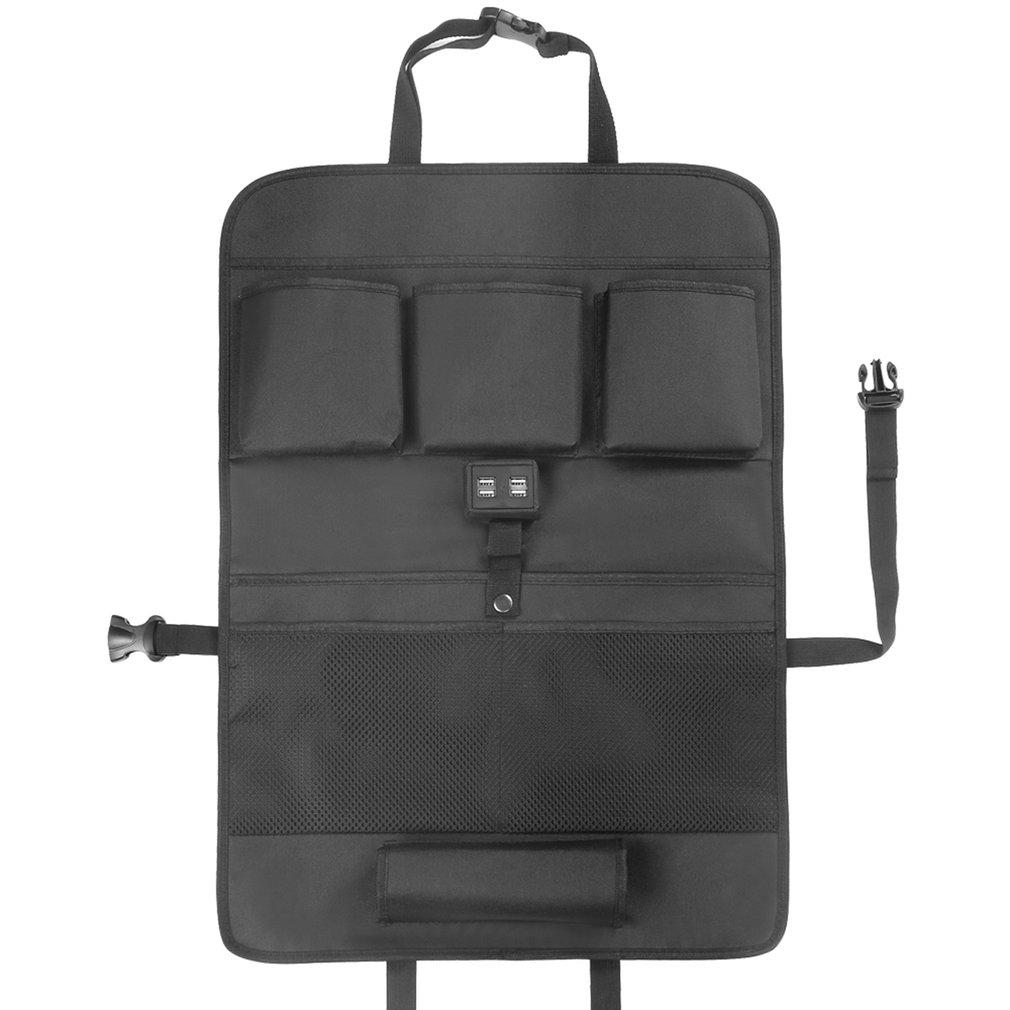Back Car Seat Organizer Mat Car Rear Storage Pockets Kick Protector 1 PC DD-01