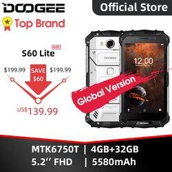 DOOGEE S60 Lite IP68 ładowanie Wireless Smartphone 5580mAh 12V2A szybkie ładowanie 16.0MP 5.2 ''FHD MTK6750T Octa Core 4GB pamięci RAM 32GB ROM