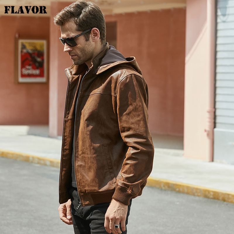 New Men s Winter Jacket Made Of Genuine Pigskin Leather With A Hood Pigskin Motorcycle Jacket New Men's Winter Jacket Made Of Genuine Pigskin Leather With A Hood, Pigskin Motorcycle Jacket, Natural Leather Jacket