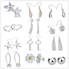 2020 New Silver Earrings For Women Fashion Jewelry Accesories Drop Earing Brincos Femme Pendientes Party Gifts Wholesale charmhouse 925 silver earrings for women leaf dangle earing brincos pendientes fashion jewelry accessories party gifts