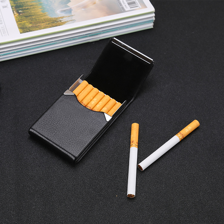 Card Case Business Men Fashion Metal MEN'S AND WOMEN'S Card Case Eight Cigarette Case Lettering Business Card Holder