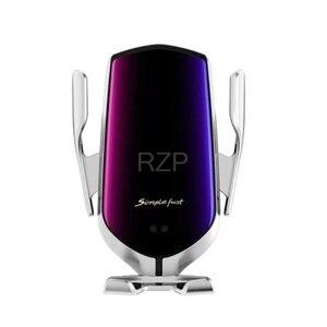 Image 5 - RZP 10W Qi Auto Drahtlose Ladegerät Für iPhone Xs Max X Samsung S10 S9 Schnelle Wirless Lade Automatische Intelligente auto Telefon Halter
