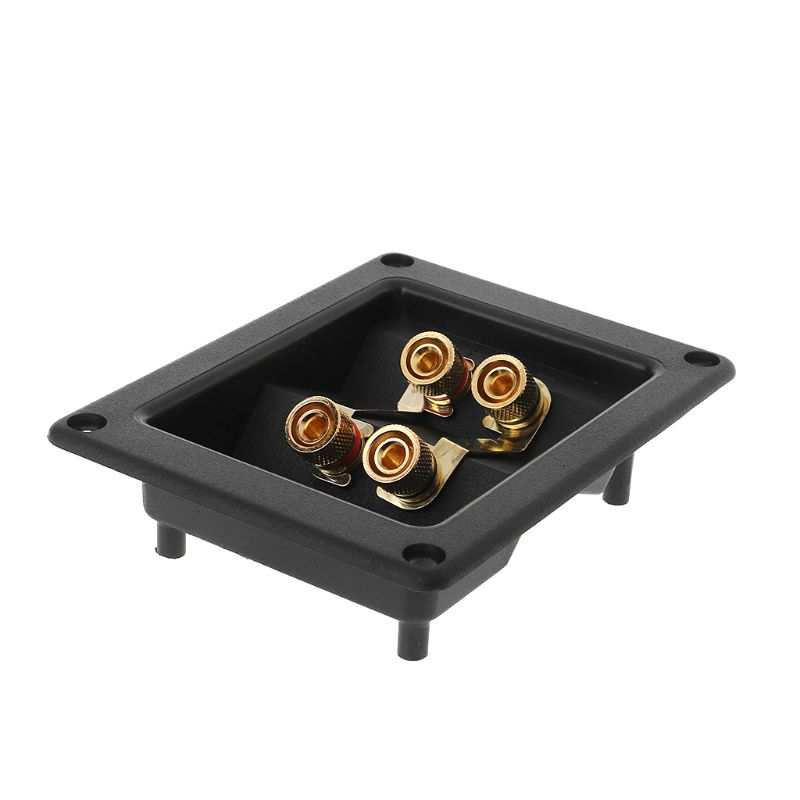 1 Pc Terminal Cup Connector 266 Parts Express Binding Posts Gold Banana Jacks Recessed Bi-Amp Speaker Box Black 10166