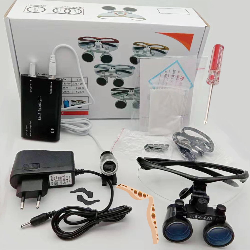 Jewelry For 2020 Dentistry Loupes Lights Binocular Light Loupes Surgical Magnifying Dental With Glass Magnifier Lamp Frame Led