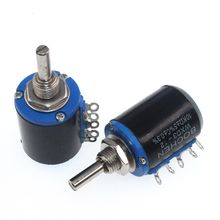 WXD3-12-1W resistência wirewound do potenciômetro da multi-volta, para o ajuste 100r 220r do volume 1k 2.2k 3.3k 4.7k 10k 33k 47k