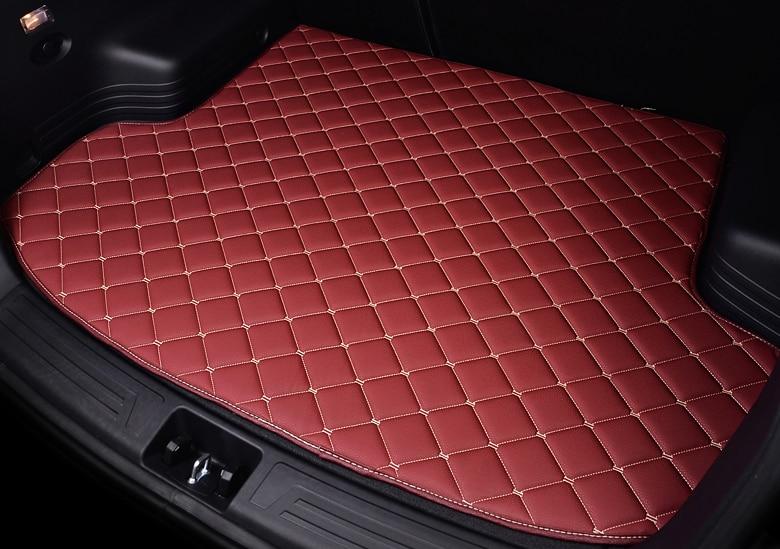 All Custom Car Trunk Mats For Hyundai Solaris Sonata Creta Encino Ix25 Ix35 Kona Tucson Etc Car-styling All Weather Carpet Floor