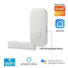 チュウヤインテリジェント 2.4 グラム無線 Lan ドア接触センサワイヤレス磁気窓検出器マグネットスイッチオープン警報スマートライフ AlexaGoogle