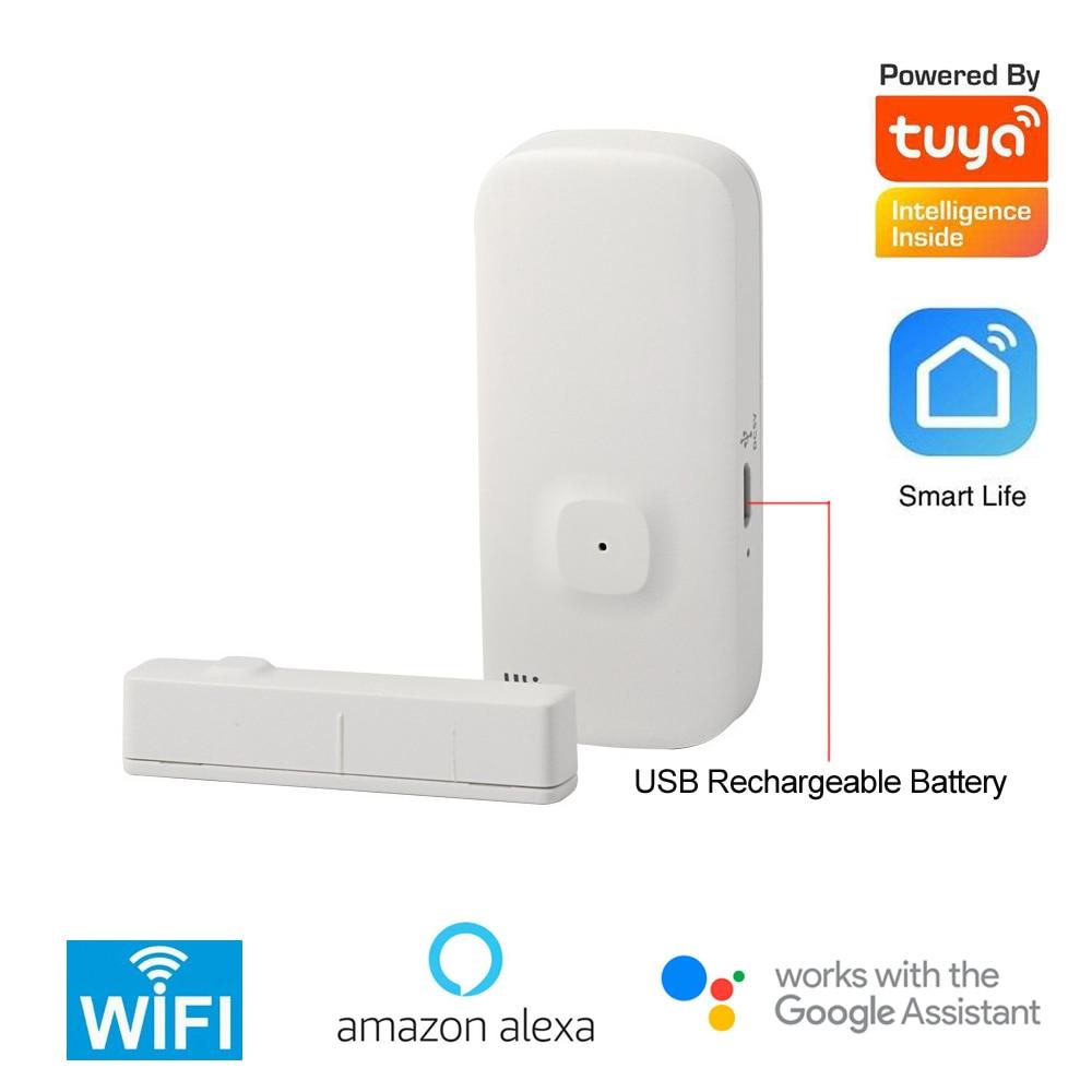 Tuya Intelligent 2.4G WIFI Door Contact Sensor Wireless Magnetic Window Detector Magnet Switch Open Alarm Smart Life AlexaGoogle