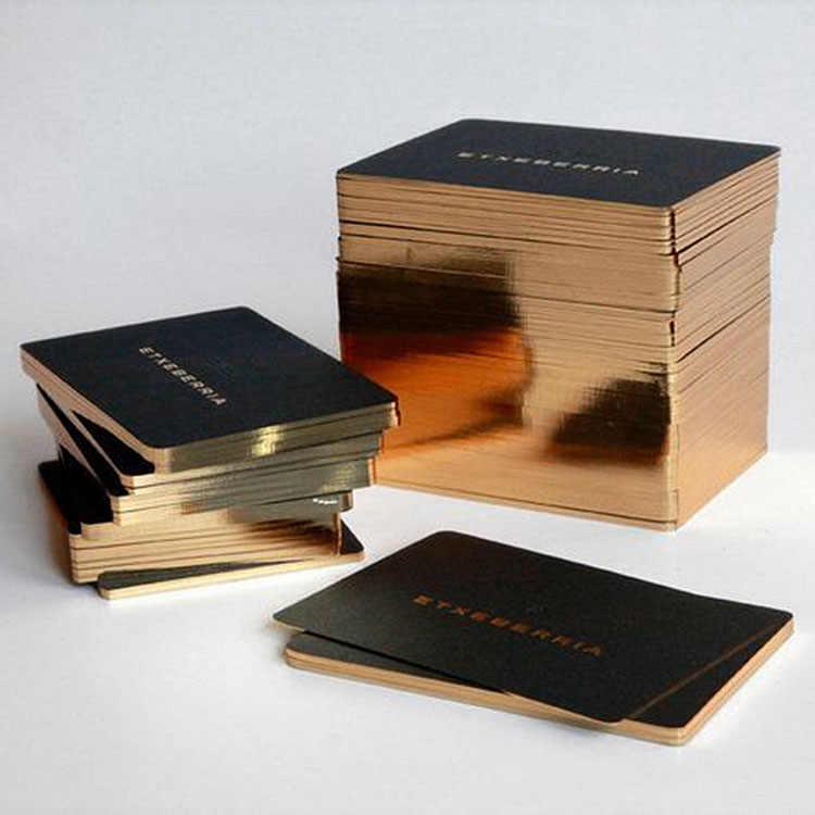 CUSTOM ธุรกิจทองฟอยล์กดพิมพ์ high-end Card ปรับแต่งจัดส่งฟรี DHL