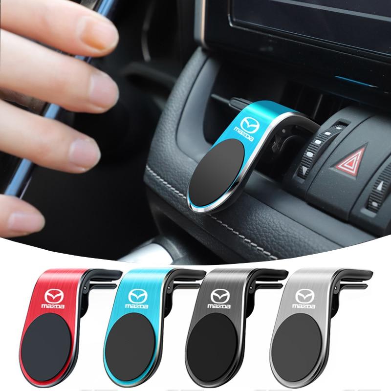 Автомобильный магнитный держатель для телефона, Магнитная подставка для сотового телефона с вентиляционным отверстием для Mazda 6 3 CX5 5 2 323 CX7 ...