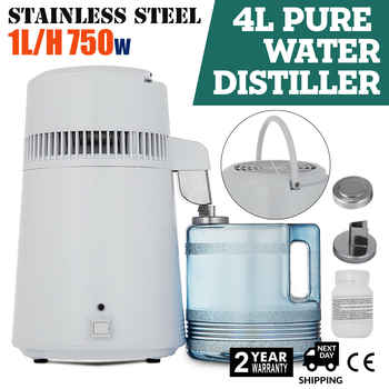 4L Tragbar Wasser Destilliergerät Mediz destilliertem wasser Innenteil aus Edelstahl
