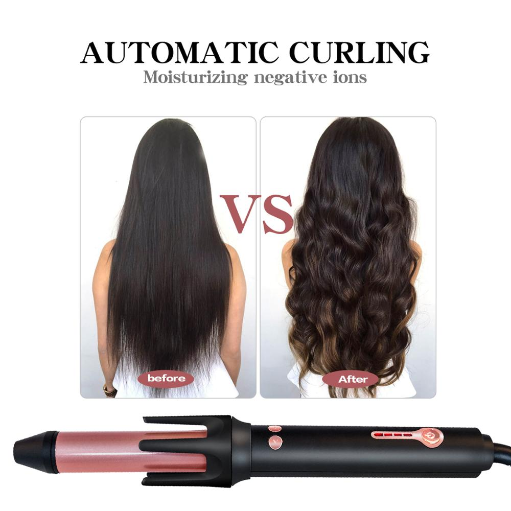 Automatic Magic Hair Curler Auto Rotating Curling Iron 1 Inch Barrel Two Way Rotating Curling Iron Cerami Hair Styling Wand