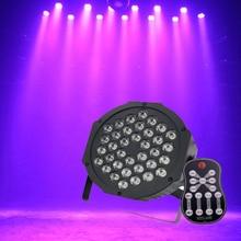 Remote Control UV 36LED Stage Light Par Lamp Club DJ Party Disco Lighting for Ballroom KTV Bar