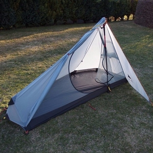 Image 2 - 3F UL Gear Rodless Tent Ultralight 15D Silicone Single Person Camping Tent 1 Person 3 Season With Footprint 3 Colors