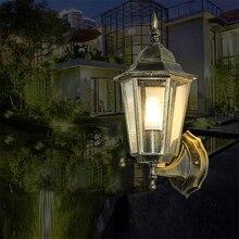 E27 Wall sconce Vintage Light corridor patio Loft Nordic Iron retro  Lamps Villa Lawn Decorative Bar Led Lights