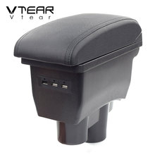 Vtear For Peugeot 2008 301 c Elysee armrest leather arm rest USB car-styling storage box car center console parts accessories