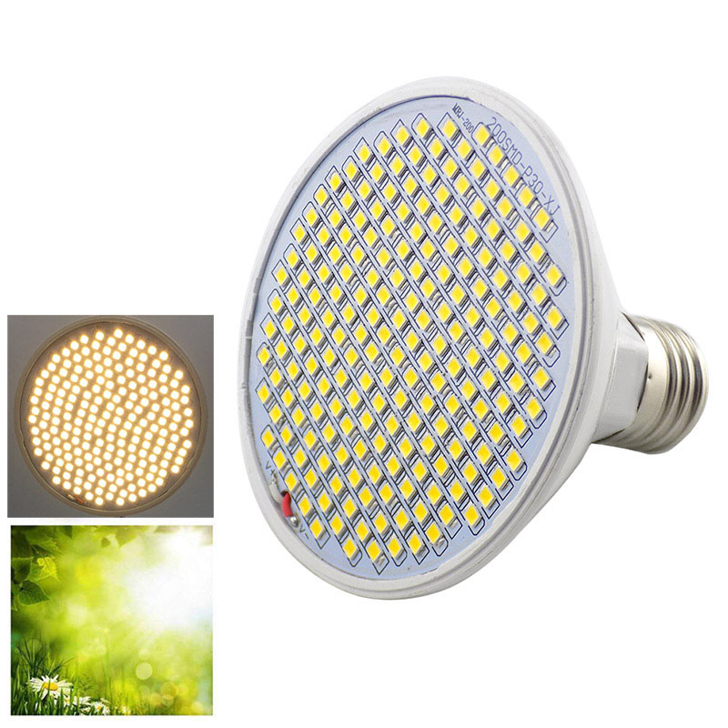 2019 NEW Full Spectrum 200 LED Plant Grow Light Bulb Yellow Fitolamp Phyto Lamp Indoor Vegs Seed Cultivo Growbox Tent Greenhouse