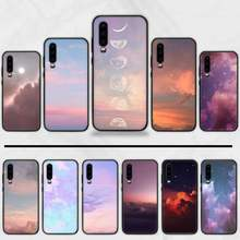 Sweet sky pink Clouds Colorful Custom Photo Phone Case For Huawei Y5 Y6 II Y7 Y9 PRIME 2018 2019 NOVA3E P20 PRO P10 Honor 10(China)