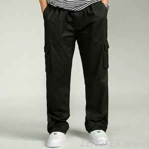 Image 4 - Spring and autumn men loose big size XL straight pants oversize elastic waist trousers casual pants men 6XL 5XL 4XL 3XL