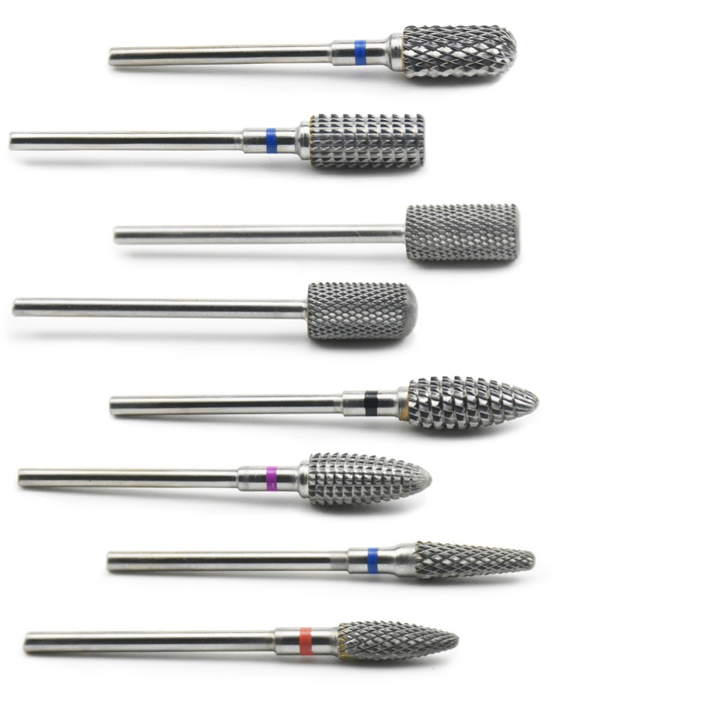 10 Type Tungsten Carbide Nail Drill Bit Nail Milling Cutter For Electric Drill Manicure Machine Accessory Tools Nail Files
