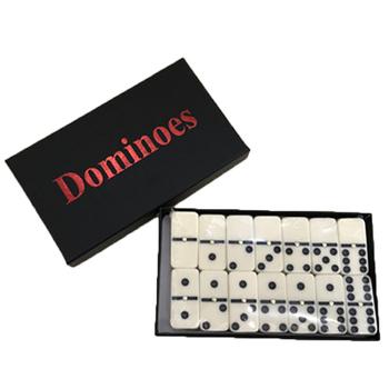28 sztuk domino zestaw gry zabawny gry stołowe Mini przenośne składane podróży zabawki dla rozrywki dla dzieci zabawki edukacyjne dla dzieci prezenty tanie i dobre opinie jusenda Dominoes 5-7 lat No Eating 4 75*2 35*0 65cm 4 8*2 3*1 cm 28 pieces Over 7 years old Melamine Boxes Funny table games