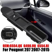 6Pin Passagierszijde Ruitbediening Schakelaar Voor Peugeot 207 2007-2015 6490 Hq 6554HJ Links Rechts Elektrische schakelaar