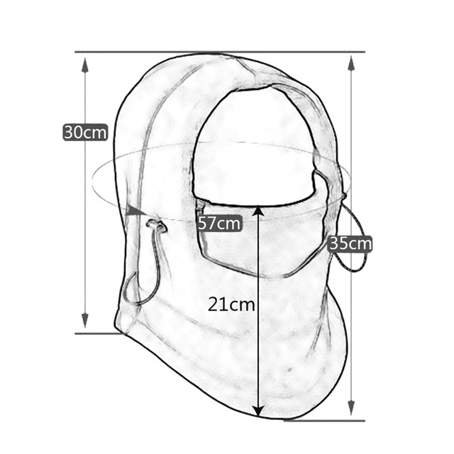 2016 Neck Fleece Breathable Balaclavas Hat Headgear Winter Skiing Ear Windproof Warm Mask Motorcycle Bicycle Scarf HA120 5