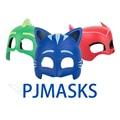 Pj máscaras três estilos de máscaras modelo material pvc festa suprimentos máscara brinquedos para meninos e meninas