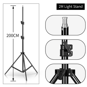 Image 5 - Photography Studio Softbox Lighting Kit Arm for Video & YouTube Continuous Lighting Professional Lighting Set Photo Studio