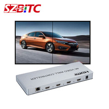 SZBITC Video Wall Controller 2x2 4K Video Processor 180 degrees Rotation HDMI DVI 3.5mm Audio with Remote Control For LCD TV free shipping led display controller led video processor usb video processor ams lvp613 compar vdwall lvp515 with audio output