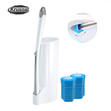 Toilet Cleaning Brush Set Replaceable Brush Head Bathroom Toilet Bowl Cleaner Tool Deep Cleaning Wand  Long Handle Soft Tool