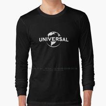 Universal studios logo-alta qualidade manga longa t camisa 100% puro algodão tamanho grande universal estúdios uso isands de aventura ush